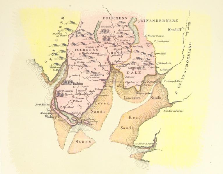 Map of Furness from Camden's Britannia circa 1600