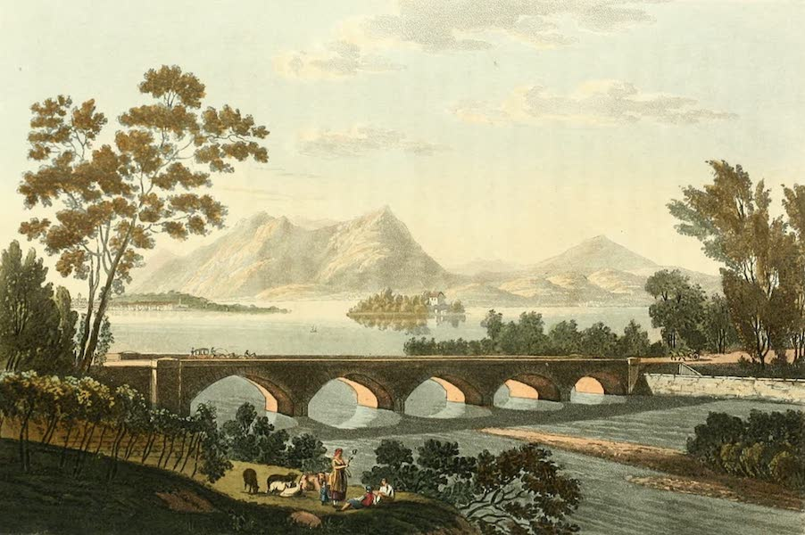 View of the Bridge of Baveno and of the Madre Islands