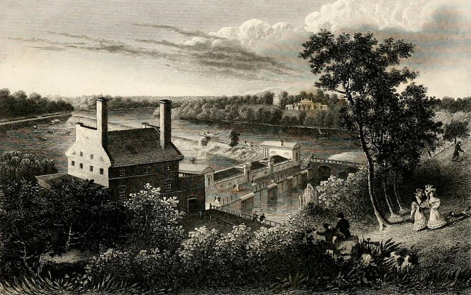 Fairmount Water-Works from the Reservoir